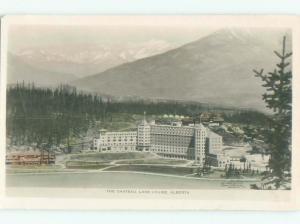 1940's rppc HOTEL SCENE Lake Louise Alberta AB W0976