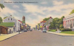 Rhode Island East Greenwich Main Street Looking South