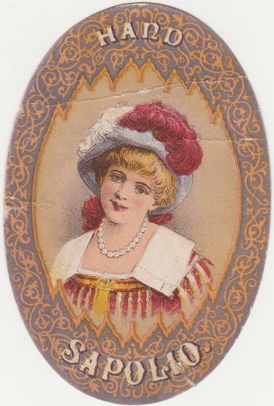Victorian Die Cut Trade Card - Morgan's Sapolio Hand Soap - Pretty Lady