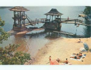 Pre-1980 BEACH SCENE Mohonk Lake - Marbletown - New Paltz New York NY d7803