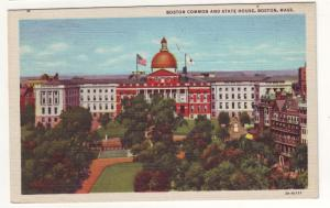 P135 JL 1930-45 linen boston  common state house mass