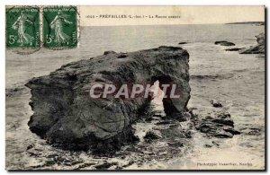 Old Postcard Prefailles The hollow rock