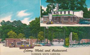 South Carolina Florence Colony Motel And Restaurant