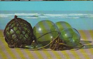 Alaska Japanese and Russian Glass Floats Used By Fishermen To Hold Their Nets
