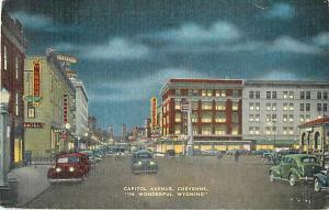 Capitol Avenue, Cheyenne, WY, Wyoming, 1948 Linen