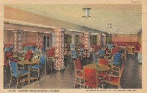 YELLOWSTONE NATIONAL PARK, Wyoming, 1937; Cocktail Lounge, Canyon Hotel