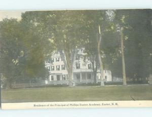 Unused Divided Back SCHOOL BUILDING Exeter New Hampshire NH J8430