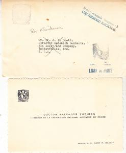 Jumbo Business Card Dr. Salvador Zuriban Sent to Eli Lilly Co