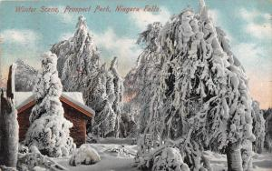 Niagara Falls NY~Prospect Park Cabin~Way Trees Get in Winter~They Tell Me~1909