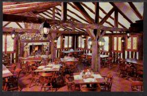 Interior Fox and Hounds Restaurant Hubertus WI Postcard 4142