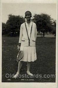Mes. AK Cuyer Tennis, Old Vintage Antique, Post Card Postcard  Mes. AK Cuyer