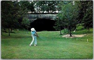 1960s Fairfield Bay, Arkansas Postcard INDIAN HILLS GOLF COURSE / Cave View