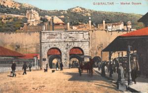 Market Square, Gibraltar, Early Postcard, Unused