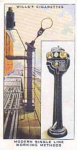 Wills Vintage Cigarette Card Railway Equipment 1938 No 19 Modern Single Line ...