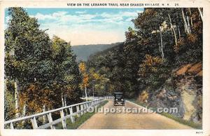 Old Vintage Shaker Post Card Lebanon Trail near  Village New York, NY, USA Un...
