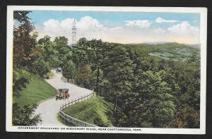 Government Boulevard Missionary Ridge Chattanooga Tennessee Unused c1920s