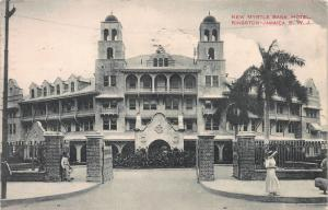 New Myrtle Bank Hotel, Kingston, Jamaica, Early Postcard, Used in 1913