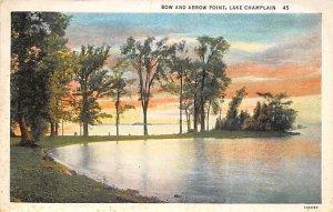 Row and Arrow Point Lake Champlain, New York NY