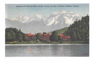 Harrison Hot Springs Hotel Mt Cheam The Spa Canada British Columbia Vtg Postcard