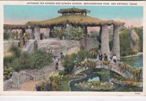 Texas San Antonio Brackenridge Park Japanese Tea Garden and Sunken Garden 1928
