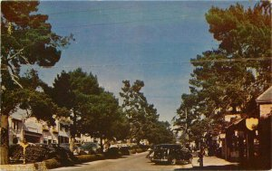 Automobiles Carmel by the Sea California Street Scene Postcard Roberts 20-2787