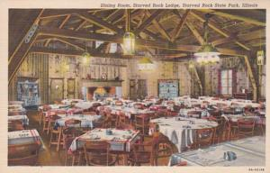 Illinois Starved Rock State Park Dining Room Starved Rock Lodge 1943 Curteich