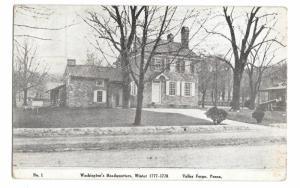Valley Forge PA George Washingtons Headquarters Vntg c1907 J U Francis Postcard