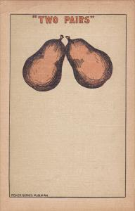 Poker Comic: Pair of Pears, Two Pairs 1900-10s