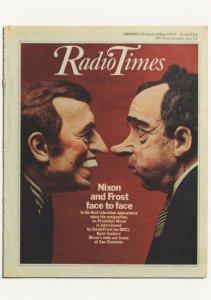 Radio Times USA President Nixon Spitting Image Comic Postcard