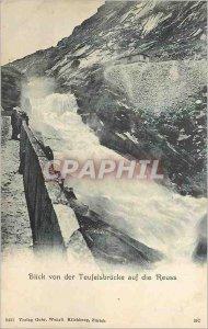 Old Postcard Blick von der Teufelsbr?cke auf die Reuss