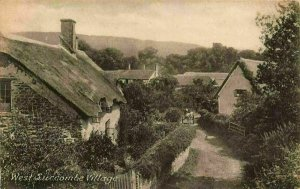 West Luccombe Village Cottages Frith's Series Postcard