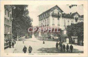 Old Postcard Vittel Avenue and hotels