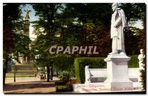 Old Postcard Berlin Tiergarten Siegesalitee Denkmat Kaiser Witheim