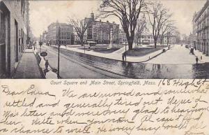 Court Square and Main Street, Springfield,  Massachusetts, PU-1907