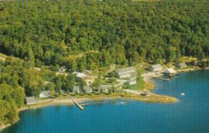 Canada Aerial View Rogerson's Camps Port Loring Ontario