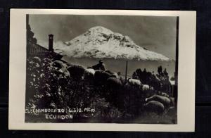 Mint Real Picture Postcard El Chimborazo Volcano Ecuador RPPC