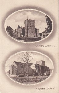 CUMBRIA, England, 1900-1910s; 2-Views, Greystoke Church West And East View, TUCK
