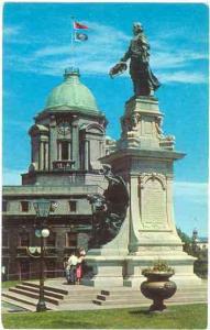 Monument de Champlain erige sur tla Terrasse Dufferin, Quebec City Canada Chrom