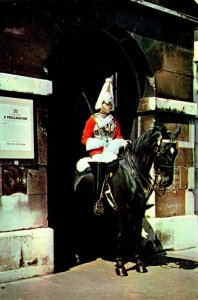 England London Whitehall Horse Guards Mounted Sentry