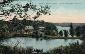 RIDEAU RIVER , Ontario, Canada, 1907 ; View at Foster's Lock
