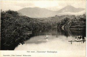 CPA INDONESIA Het meer, Tjisaroewa Sindanglaya (341106)