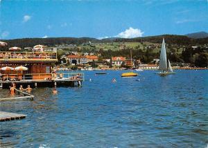 Kurort Velden am Woerther See Kaernten Gesamtansicht Boats Lake