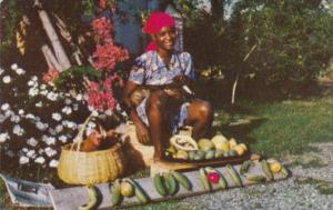 Jamaica Young Girl Selling Fruit