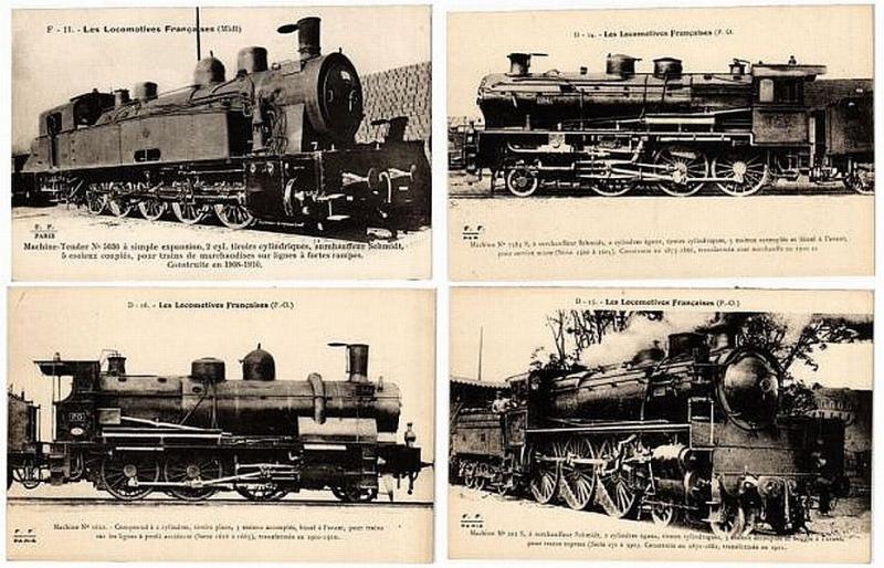 CHEMIN DE FER, LOCS, TRAINS, FRANCE 100 CPA pre-1950