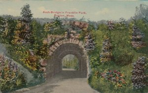 BOSTON, Massachusetts , 1911 ; Arch Bridge in Franklin Park