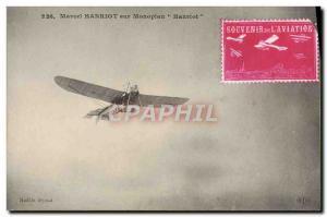 Old Postcard Jet Aviation Michel Henriot on monoplane Henriot