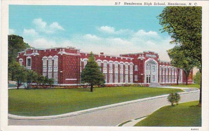 North Carolina Henderson High School Curteich
