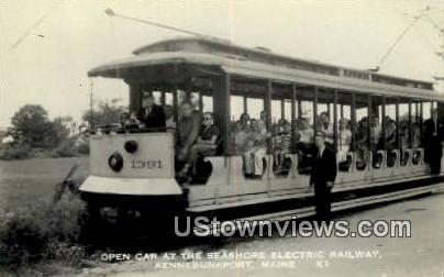 Real Photo, Seashore Electric Railway Kennebunk Port ME 1958