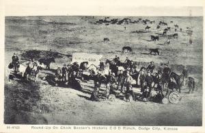 Round-Up on Chalk Benson's Historic COD Ranch - Dodge City