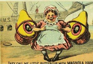 1878 HMS Pinafore Lady Carrying Big Magnolia Ham McFerran Shallcross Card F103